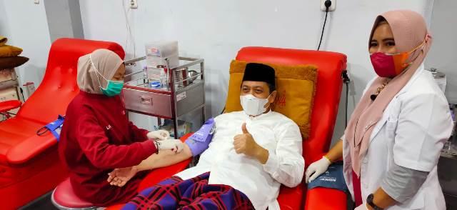 Ulang Tahun PMI, Wagub Donor Darah