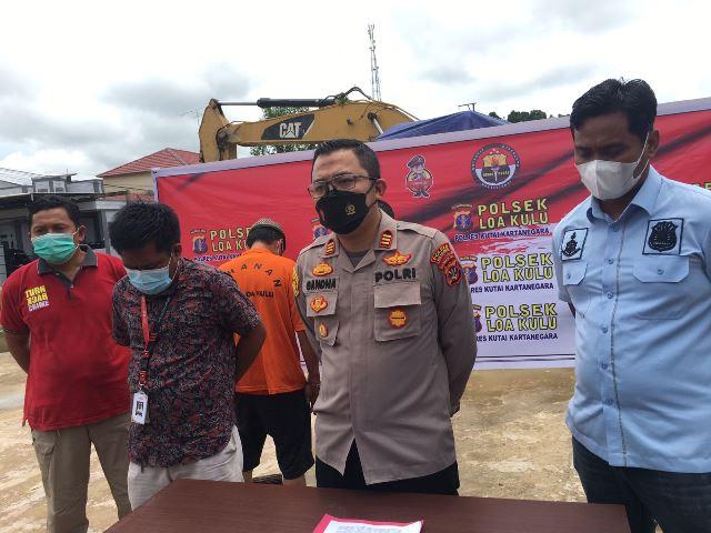 Dua Tersangka Kasus Dugaan Illegal Mining di Konsesi PT. MHU, Terancam 5 Tahun Penjara